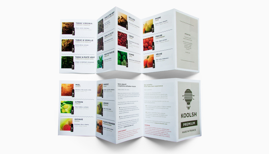 Creation de brochure pour Koolsh